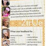 Wide Womens/Teens Stretch Headband,..