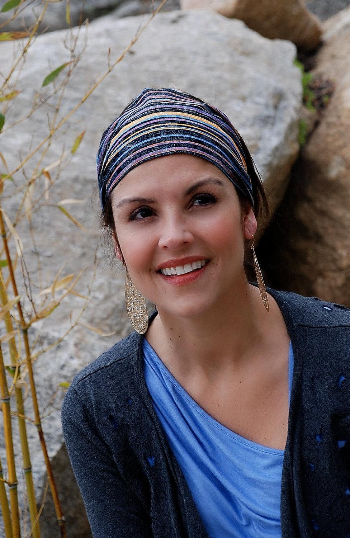 Pre-Tied Bandana Headband-Paisley Stripes-Womens Teens on Luulla 7db0d9a4920