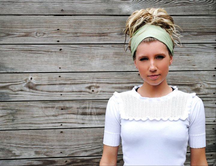 Pre-Tied Bandana Headband-Solid Sage Green-Womens Teens on Luulla 251f49a4092